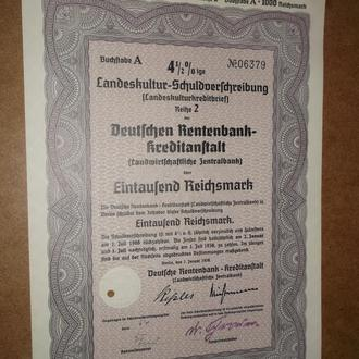 Рейх 1000 рейхмарок 1938 Оригінал  (№21)