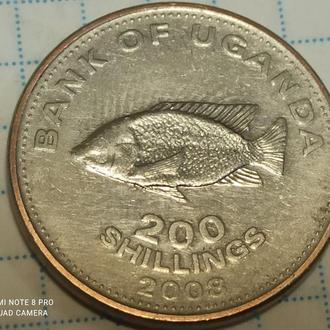 УГАНДА, 200 шиллингов 2008