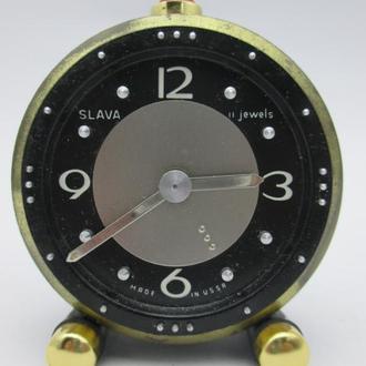 Часы будильник СЛАВА для слепых