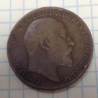 ВЕЛИКОБРИТАНИЯ,  1 пенни 1909