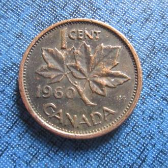 Монета 1 цент Канада 1960