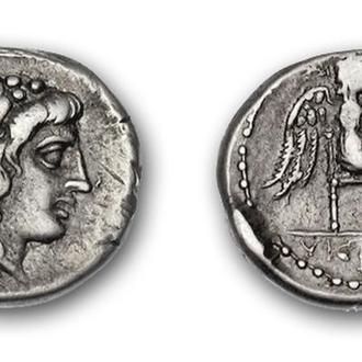 (А)2789 - Катон (89 до н.э.) AR Квинарий