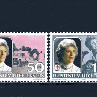 Лихтенштейн. Красный крест (концовка)** 1985 г.