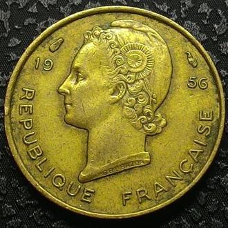 Французская Западная Африка 5 франков 1956 год СОСТОЯНИЕ!!!