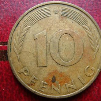 Германия 10 пфеннигов 1979 год G