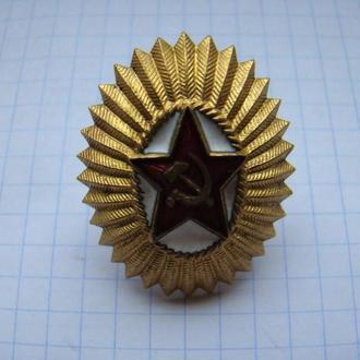 Кокарда офицерская (латунь).