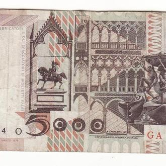 Италия 5000 лир 1982 редкая