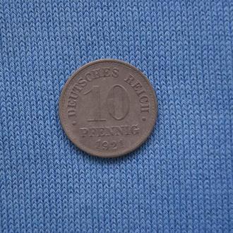 Германия  10 пфеннигов  1921 г  ЛЮКС