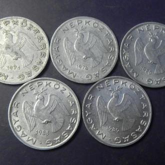 10 філлерів Угорщина (порічниця) 5шт, всі різні
