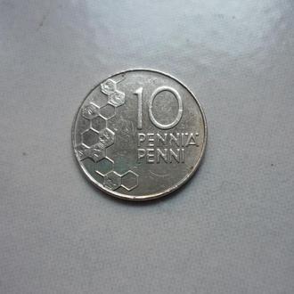 Финляндия 10 пенни 1991 флора