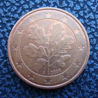 Германия 5 центов 2004 J