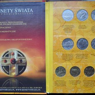 Польша набор монет Польши 2 злотых 1995-2003 гг в альбоме 63 штуки. Оригинал