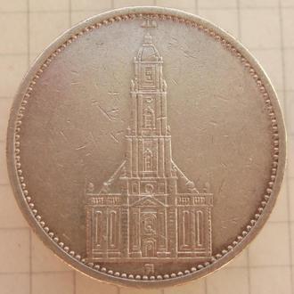 """5 марок 1934 года Кирха """"А"""". Серебро ."""