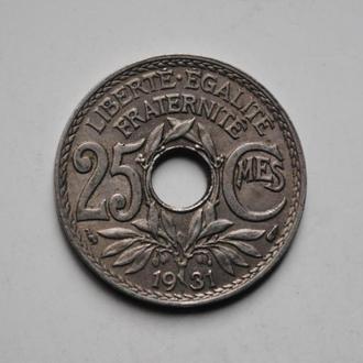 Франция 25 сантим 1931 г., СОСТОЯНИЕ
