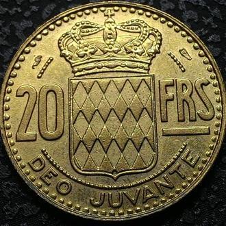 Монако 20 франков 1950 год ОТЛИЧНОЕ СОСТОЯНИЕ!!!