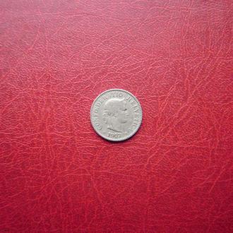 Швейцария 5 раппен 1907