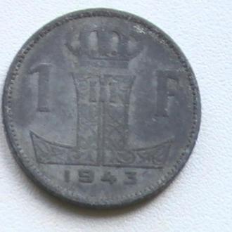 1 Франк 1943 г Бельгия 1 Франк 1943 р Бельгія