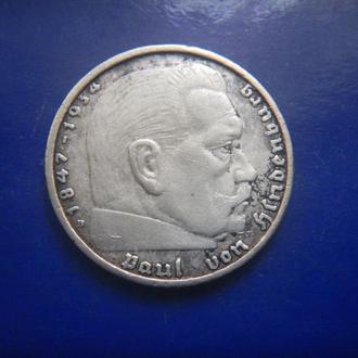 Германия 2 марки 1939 серебро