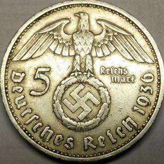 5 марок 1936 год СВАСТИКА!! СОСТОЯНИЕ!!!