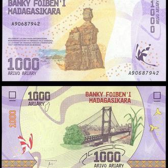 Madagascar / Мадагаскар - 1000 Ariary 2017 UNC Миралот