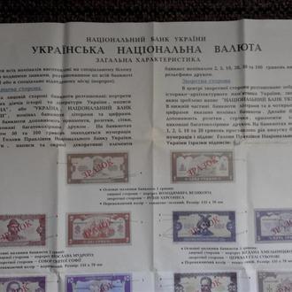 Плакат о введении украинских денег