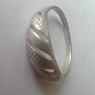 Кольцо, серебро.