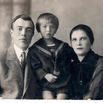Семья Протасенко - Георгий Мария Евгений Харьков 1940 год