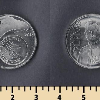 Филиппины 1 писо 2017