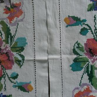 вишитий рушник серветка 2шт квiти (№141)