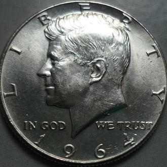 США 1/2 доллара 1964 серебро состояние