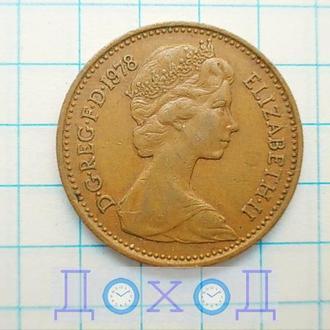 Монета Великобритания 1 пенни 1978 Бронза