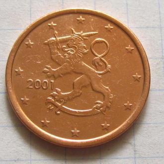 Финляндия_ 5 евро центов 2001  оригинал
