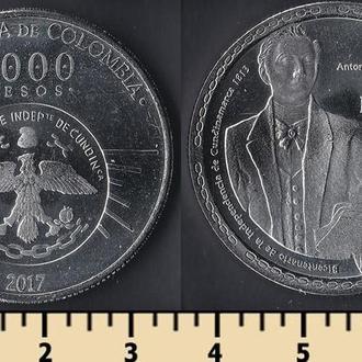 Колумбия 5000 песо 2017