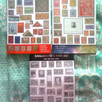 """Три каталога марок """"SANDAFAYRE"""" (Великобритания), январь 2017, новые"""