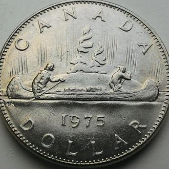 Канада 1 доллар 1975 год КАНОЭ!!!