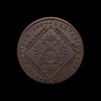30 Крейцеров 1807 S,(33) Австрия