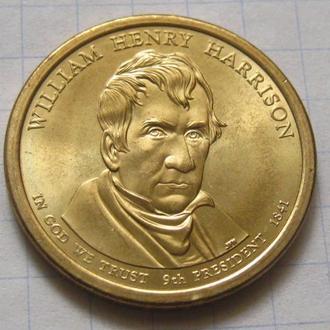 США_ 1 доллар 2009 года P  9-й президент  Уильям Гаррисон