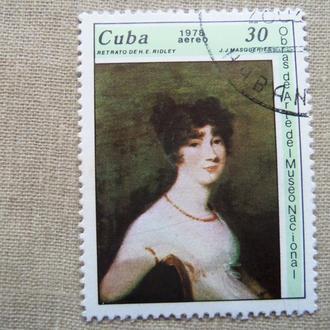 марки-блок- с 1 гр Куба--(А3) - гашеные -1978 год-живопись