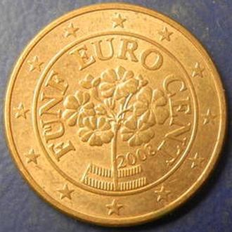 5 евроцентов 2008 Австрия