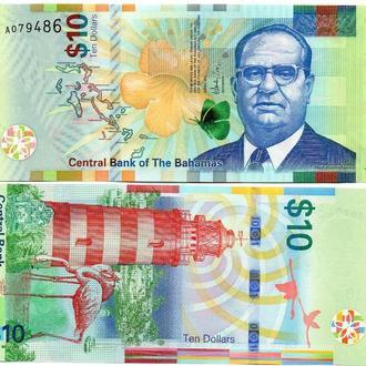 Bahamas Багамы Багамские 10 Dollars 2016 UNC Javir