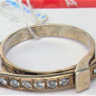 Кольцо перстень новое серебро 925 проба 2,38 грамма размер 17