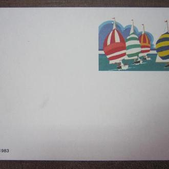 ПОЧТОВАЯ КАРТОЧКА. США 1983Г