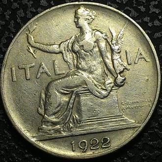 Италия 1 лира 1922 год