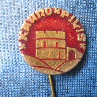Значок Каунасский замок игла