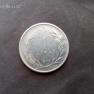 Турция 1 лира 1977 КМ#889а.2