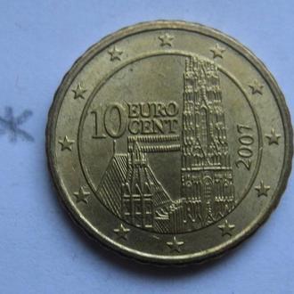 АВСТРИЯ 10 евроцентов 2002 года.