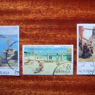 Австралия.1977/84гг. Живопись. Полные серии. КЦ 7.50 евро