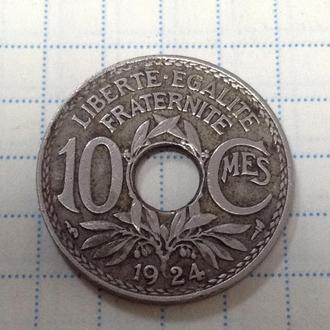 ФРАНЦИЯ, 10 сантимов 1924