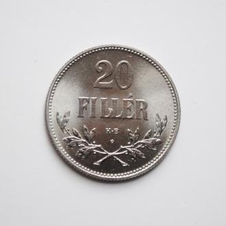 Венгрия 20 филлеров 1921 г., UNC