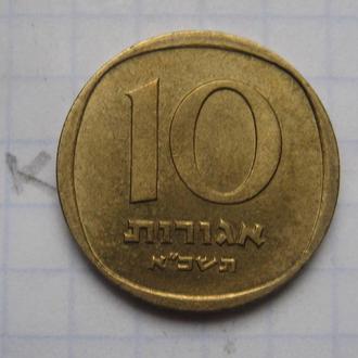 ИЗРАИЛЬ. 10 агорот (1960-1977 г.г.; в бронзе).